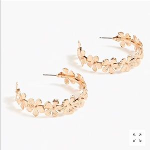 NWT JCREW PANSY HOOPS